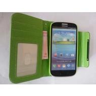 Samsung Galaxy S4 VE - Wallet Bookstyle Case Uitneembaar Hoesje Groen
