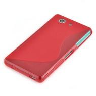 Sony Xperia M5 - Smartphonehoesje Tpu Siliconen Case Hoesje S-Style Roze