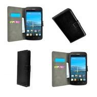 Huawei Ascend Y540 - Wallet Bookstyle Case Lederlook Zwart