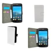 Huawei Ascend Y540 - Wallet Bookstyle Case Lederlook Wit