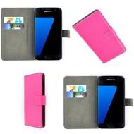 Samsung Galaxy S7 - Wallet Bookstyle Case Lederlook Roze