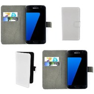 Samsung Galaxy S7 - Wallet Bookstyle Case Lederlook Wit