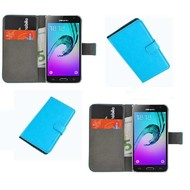 Samsung Galaxy J3 - Wallet Bookstyle Case Lederlook Turquoise