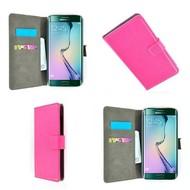 Samsung Galaxy S7 Edge - Wallet Bookstyle Case Lederlook Roze