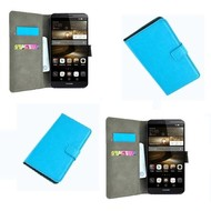 Huawei P9 - Wallet Bookstyle Case Lederlook Turquoise