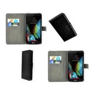 LG K10 - Wallet Bookstyle Case Lederlook Zwart
