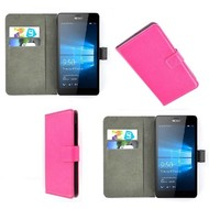 Microsoft Lumia 650 - Wallet Bookstyle Case Lederlook Roze