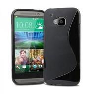 HTC One M9 - Tpu Siliconen Smartphone Case Hoesje Zwart