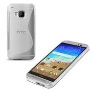 HTC One M9 - Tpu Siliconen Smartphone Case Hoesje Transparant