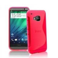 HTC One M9 - Tpu Siliconen Smartphone Case Hoesje Roze