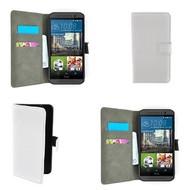 HTC One M9s - Wallet Bookstyle Smartphone Case Lederlook Wit