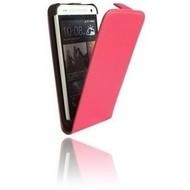 HTC One M9s - Flipcase Cover Smartphone Hoesje Lederlook Roze