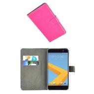 HTC 10 - Smartphone Hoesje Wallet Bookstyle Case Lederlook Roze