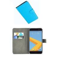 HTC 10 - Smartphone Hoesje Wallet Bookstyle Case Lederlook Turquoise