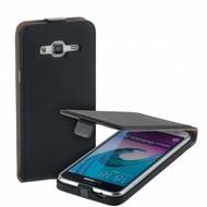 Samsung Galaxy J3 - Flipcase Cover Smartphone Hoesje Leder Zwart