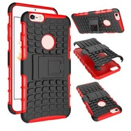 Apple iPhone 6 - Shockproof Case Cover Tweedelige Smartphonehoesje Standfunctie Rood/Zwart
