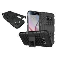 Samsung Galaxy S7 - Shockproof Case Cover Tweedelige Smartphonehoesje Standfunctie Zwart