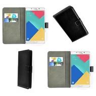 Samsung Galaxy A9 Pro - Smartphonehoesje Wallet Bookstyle Case Lederlook Zwart