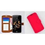 LG K5 - Smartphone Hoesje Wallet Bookstyle Case Lederlook Roze