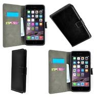 Zwart Wallet Bookcase Hoesje voor iPhone 7