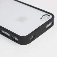 Apple iPhone SE - Smartphonehoesje Pvc Siliconen Case Hoesje Transparant Zwart