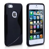 Apple iPhone SE - Smartphonehoesje Tpu Siliconen Case Hoesje S-Style Zwart