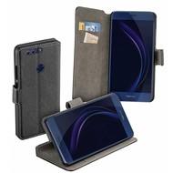 Huawei Honor 8 - Smartphone Hoesje Wallet Bookstyle Case y Zwart
