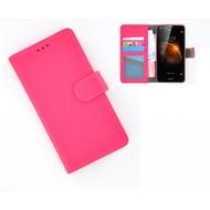 Huawei Y6-2 - Smartphonehoesje Wallet Bookstyle Case Lederlook Roze