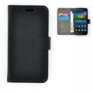 Huawei Y560 - Smartphonehoesje Wallet Bookstyle Case Lederlook Zwart
