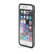 Apple iPhone 7 Plus - smartphonehoesje siliconen bumper case transparant zwart