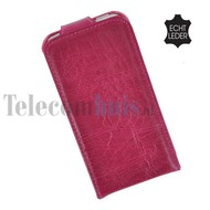 Apple iPhone SE - Smartphone Hoesje Flip Case Cover Echt Leder Bordeaux