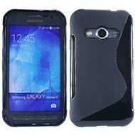 Samsung Galaxy Xcover 3 - Tpu Siliconen Case Hoesje S-Style Zwart