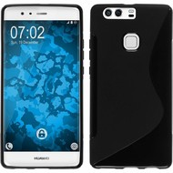 Huawei P9 Plus - Smartphone Hoesje Tpu Siliconen Case S-Style Zwart