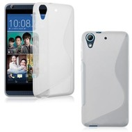 Wit S-Style TPU Siliconen Case Hoesje HTC Desire 628