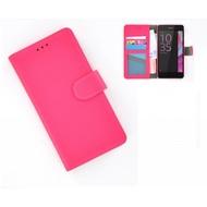 Sony Xperia XZ - Smartphonehoesje Wallet Bookstyle Case Lederlook Roze