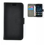 Huawei P9 Plus - Smartphonehoesje Wallet Bookstyle Case Lederlook Zwart