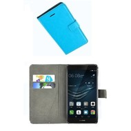 Huawei P9 Plus - Smartphonehoesje Wallet Bookstyle Case Lederlook Turquoise