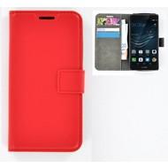 Huawei P9 Plus - Smartphonehoesje Wallet Bookstyle Case Lederlook Rood