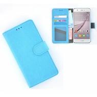 Huawei Nova - Smartphonehoesje Wallet Bookstyle Case Lederlook Turquoise