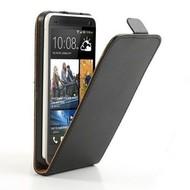 HTC One S9 - Flipcase Cover Smartphone Hoesje Lederlook Zwart