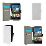 HTC One S9 - Wallet Bookstyle Smartphone Case Lederlook Wit