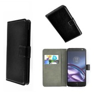 Motorola Moto Z - Wallet Bookstyle Smartphone Case Lederlook Zwart