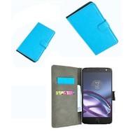 Motorola Moto Z - Wallet Bookstyle Smartphone Case Lederlook Turquoise