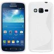 Samsung Galaxy J3 Pro - Smartphone Hoesje Tpu Siliconen Case Hoesje S-Style Wit