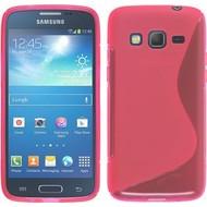 Samsung Galaxy J3 Pro - Smartphone Hoesje Tpu Siliconen Case Hoesje S-Style Roze