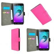 Samsung Galaxy J3 Pro - Smartphone Hoesje Wallet Bookstyle Case Lederlook Roze