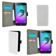 Samsung Galaxy J3 Pro - Smartphone Hoesje Wallet Bookstyle Case Lederlook Wit