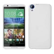 HTC Desire 830 - Smartphone Hoesje Tpu Siliconen Case Hoesje S-Style Wit
