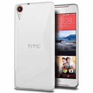 HTC Desire 830 - Smartphone Hoesje Tpu Siliconen Case Hoesje S-Style Transparant