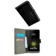 LG G5 SE - Smartphone Hoesje Wallet Bookstyle Case Lederlook Zwart
